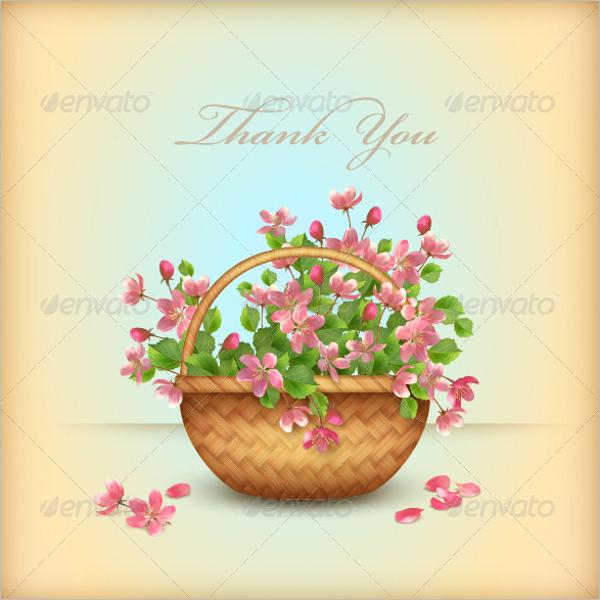 BeautifulFloral Thank You Card Design