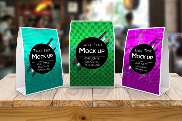 Beautiful Table Tent Mockup Template