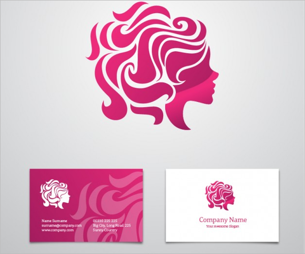 Beauty Business Card Free Vector
