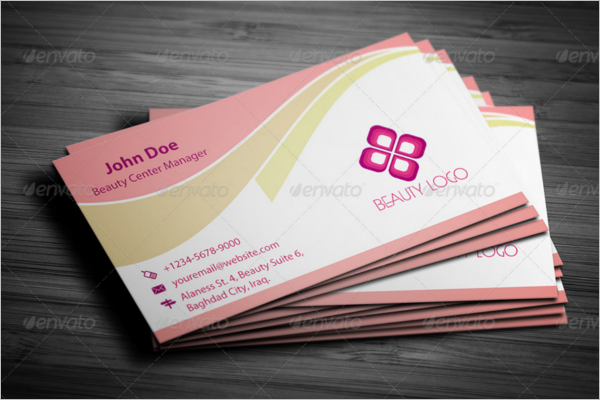 Beauty Care Business Card Template