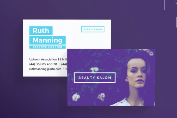 Beauty Center Business Card Template