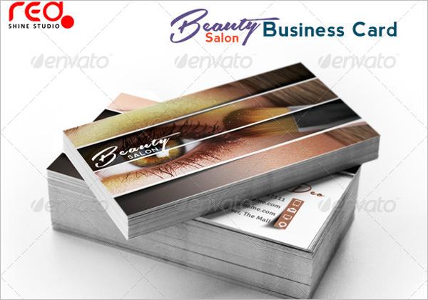 Beauty Parlour Business Card Template