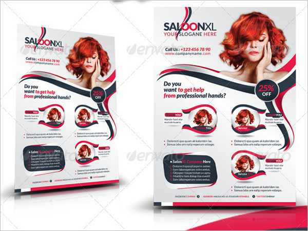 Beauty Salon Business Flyer Idea