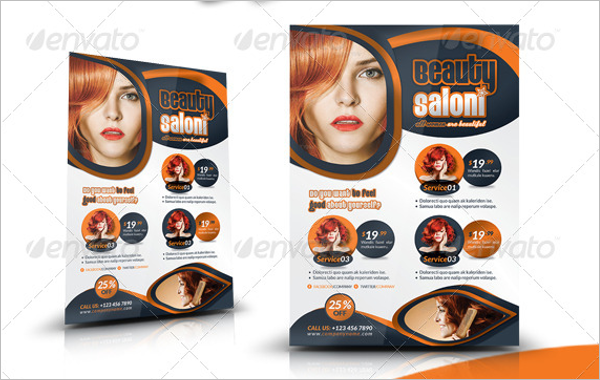 Beauty Salon Flyer InDesign