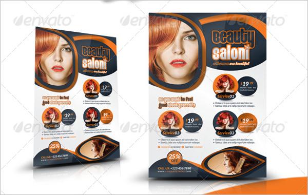 Beauty Salon Flyer InDesign