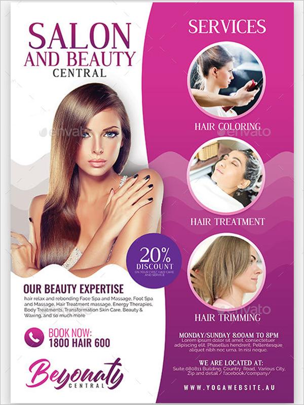 Beauty Salon Flyer PSD Design