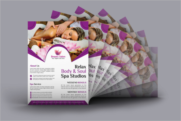Beauty Salon Flyer PSD Free Download