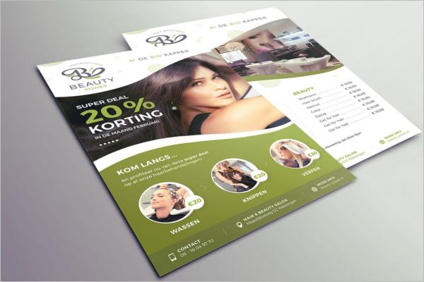 Beauty Salon Flyer PSD Free