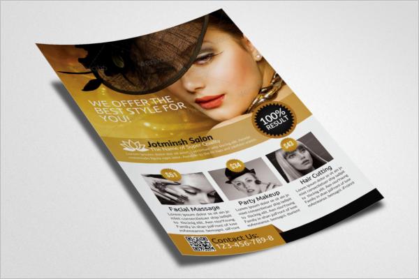Beauty Salon Flyer PSD Template