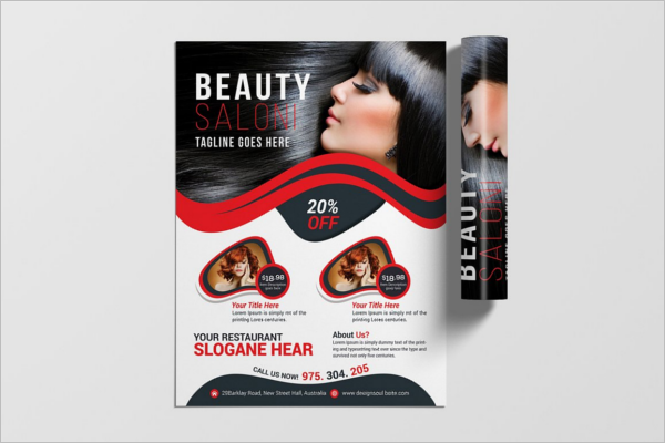 Beauty Salon Flyer Vector