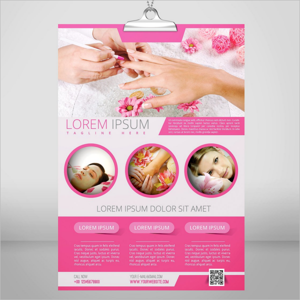 Beauty Salon Opening Flyer Template