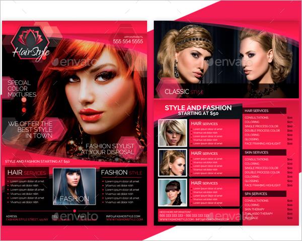 Beauty Salon Price List Flyer Design