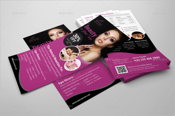 Beauty Salon Rack Card Flyer Design