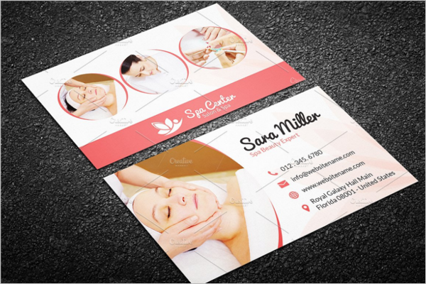 Beauty Salon & Spa Business Card