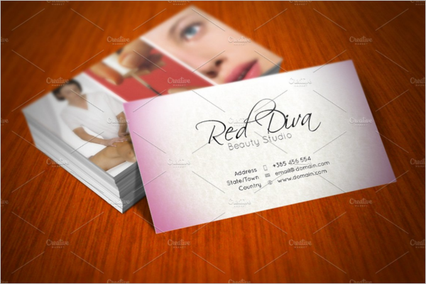 Beauty Studio Business Card Template