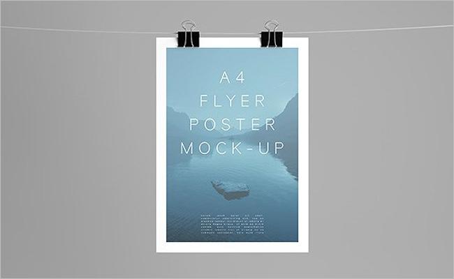 Best A4 Poster Mockup Design