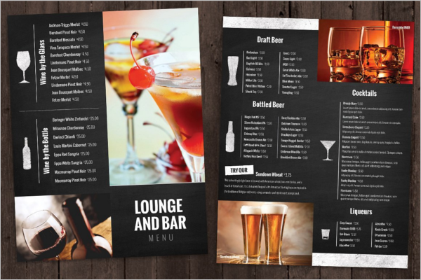 Best Bar Menu Template