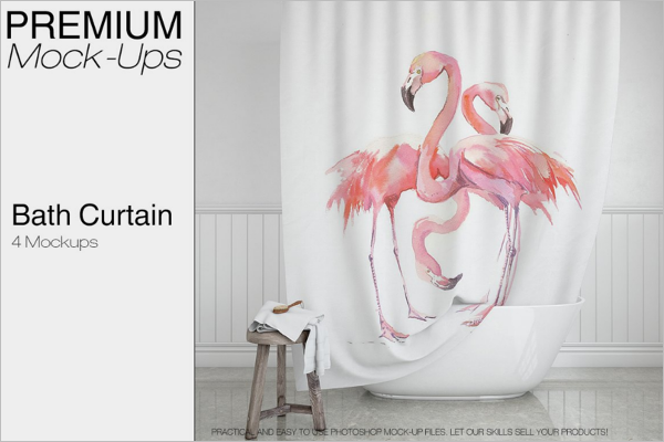 Best Curtain Mockup Design