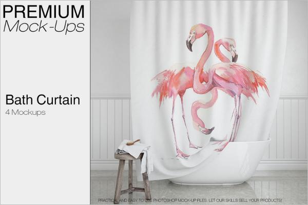 Best Curtain Mockup Design