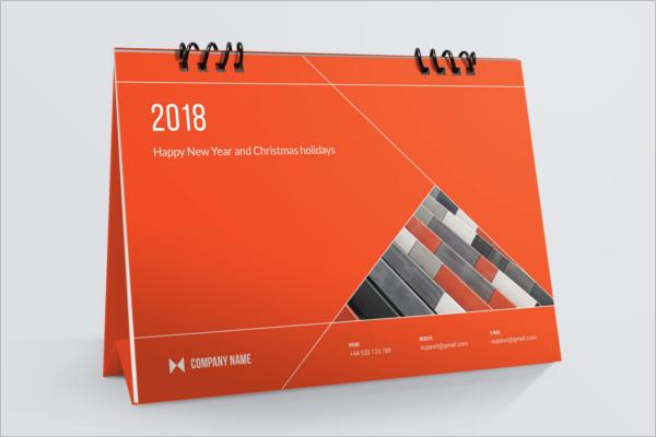Best Desk Calendar Mockup Template