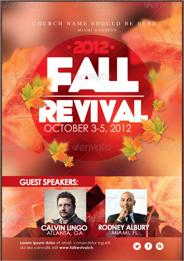 best fall flyer template