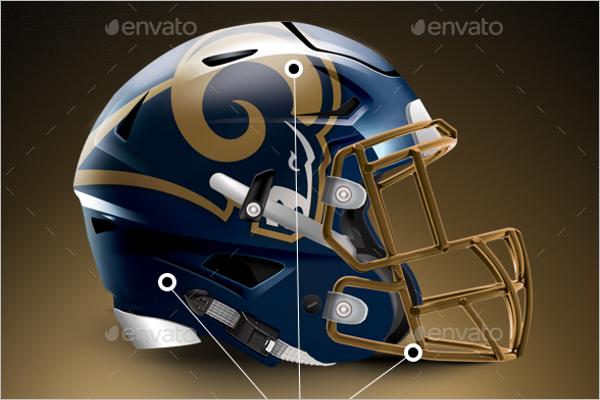 BestFootball Helmet Mockup