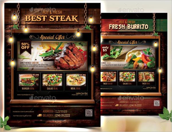Best Restaurant Flyer Design