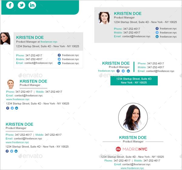 Best SellingEmail Signature Design Template