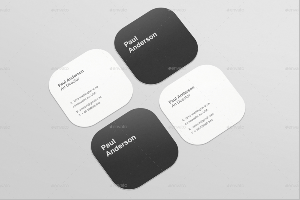 Best Square Business Card Template