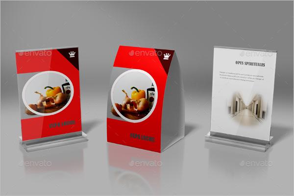 Best Table Tent Card Mockup Design