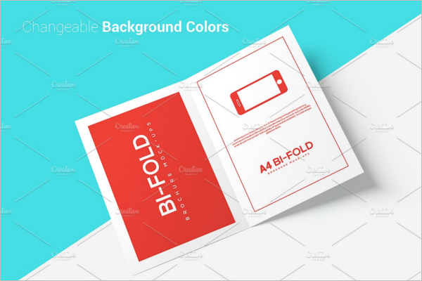 Bi Fold A4 Brochure Mockup Template