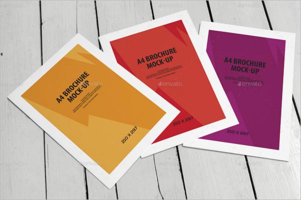 Bi-Fold Leaflet Brochure Mockup Set Design