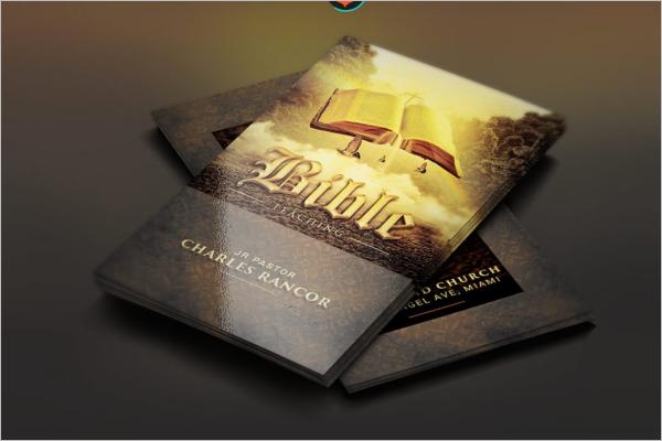 Bible Teacher Business Card Template