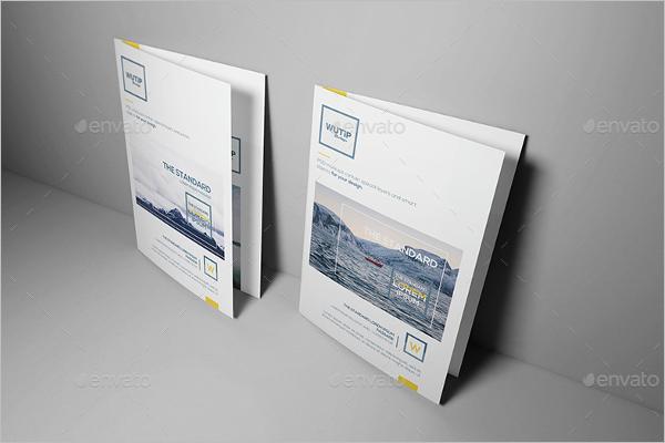 Bifold Leaflet Brochure Mockup Design