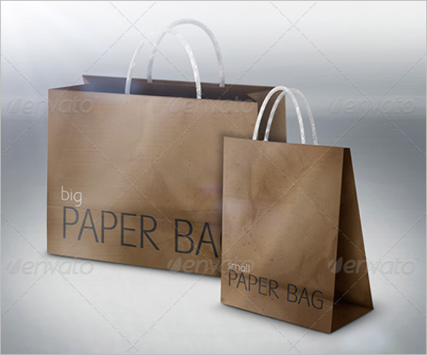 Big & Small Paper Bag Mockup Design