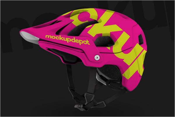 Bike Helmet Mockup