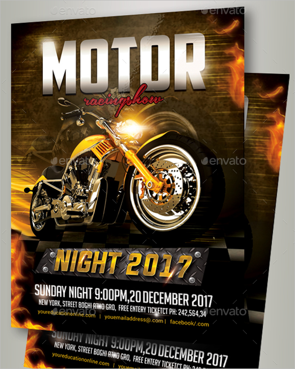 Bike Racing Flyer Template