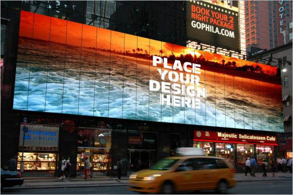 Billboard Mockup Photoshop Design