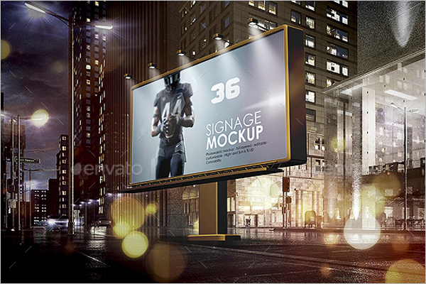 Billboard Outdoor Mockup Template