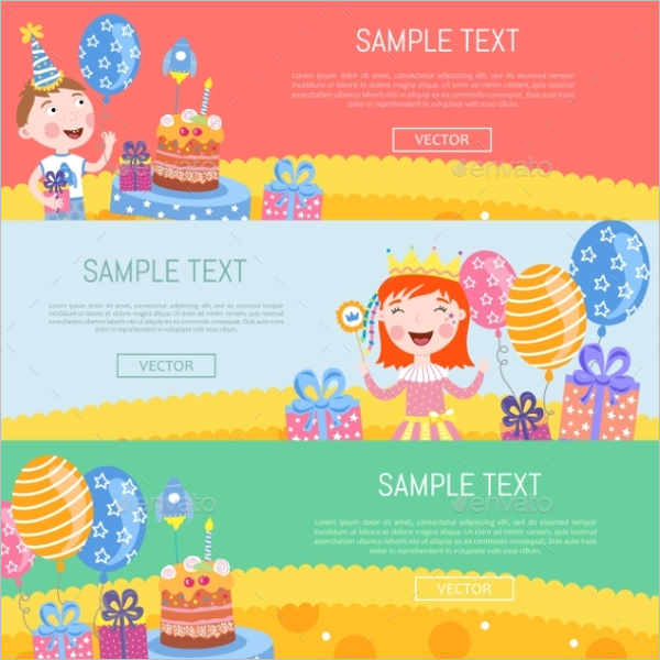 Birthday Banner Vector Design