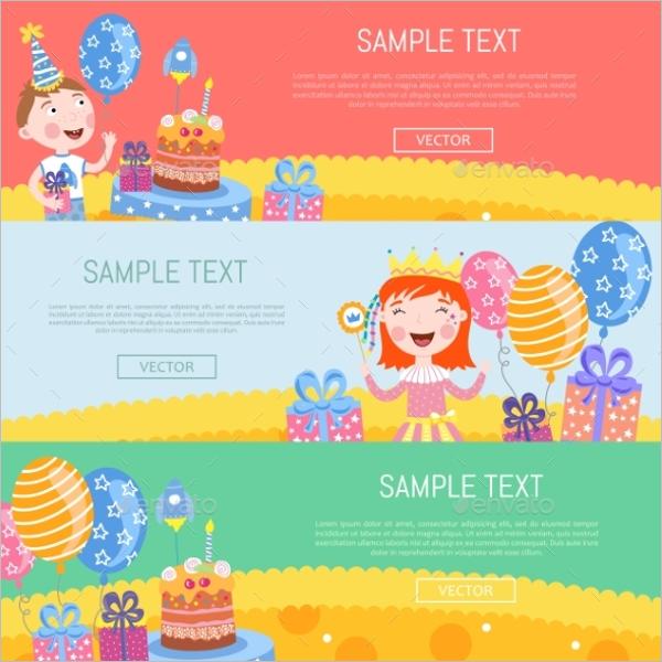 Birthday Banner Vector Design