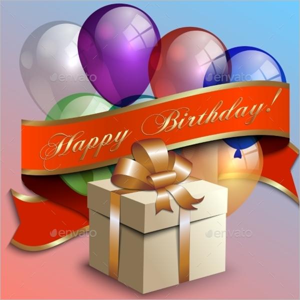 Birthday Gift Box Template