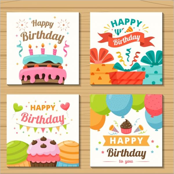 Birthday Gift Card Design Bundle