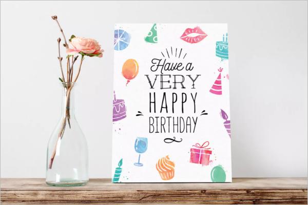 Birthday Gift Card Design Idea