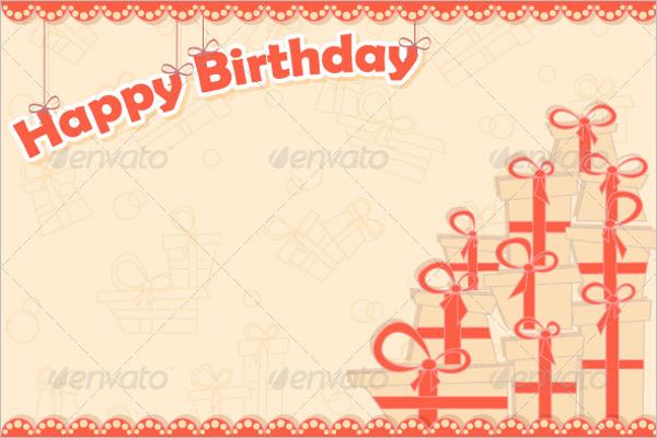 Birthday Gift Card Design