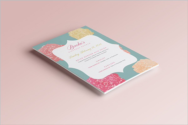 Birthday Menu Card Template Free Download