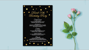 Birthday Menu Card Templates