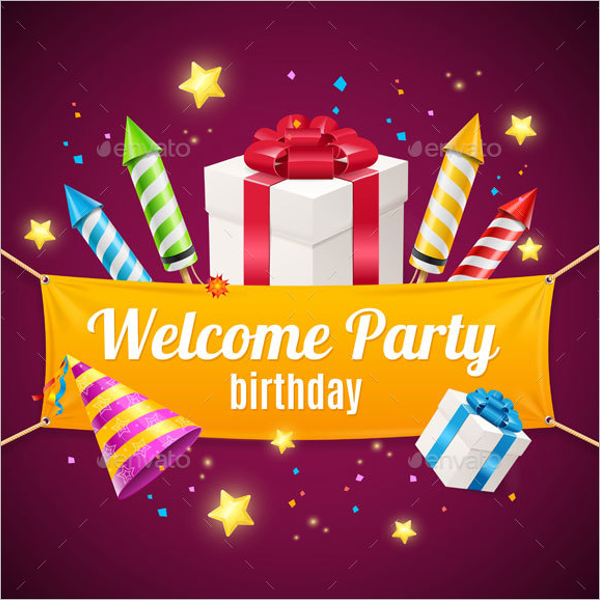Birthday Party Gift Card Design