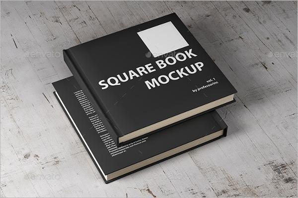 Black Book Cover Mockup Design