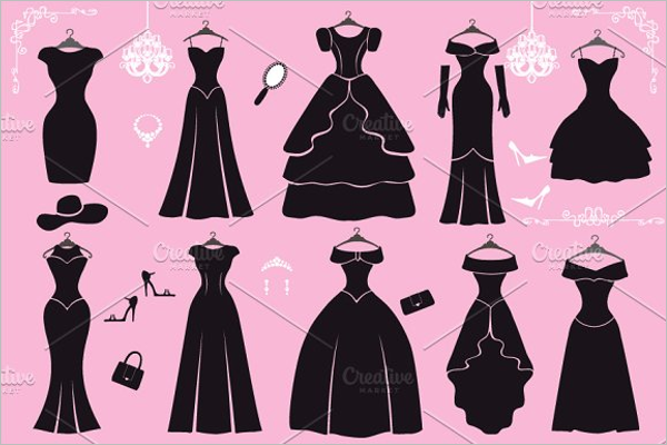 Black Dress Design Template